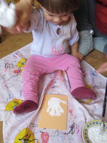 рисование ладошками с малышом