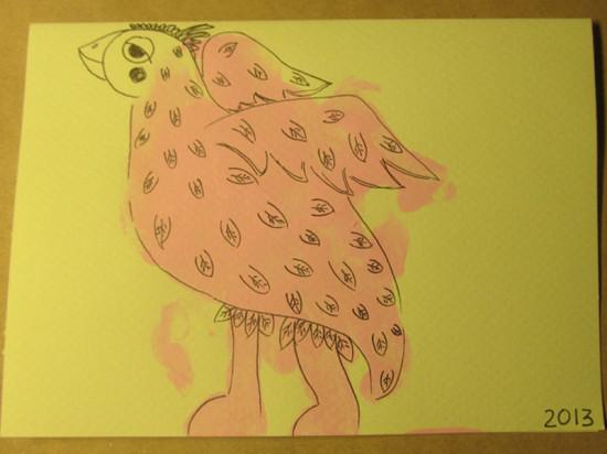 Открытка птица счастья