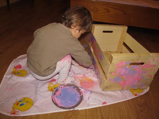 рисование с малышом ладошками