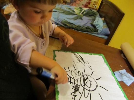 рисование с малышом