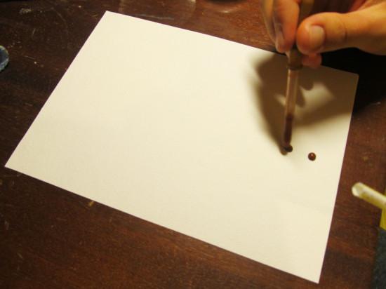 детская поделка методом выдувания краски
