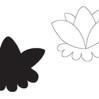 Подготовка руки к письму. Соедини цветок и его тень