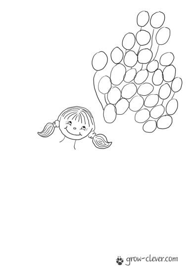скачать детский шаблон для рисования