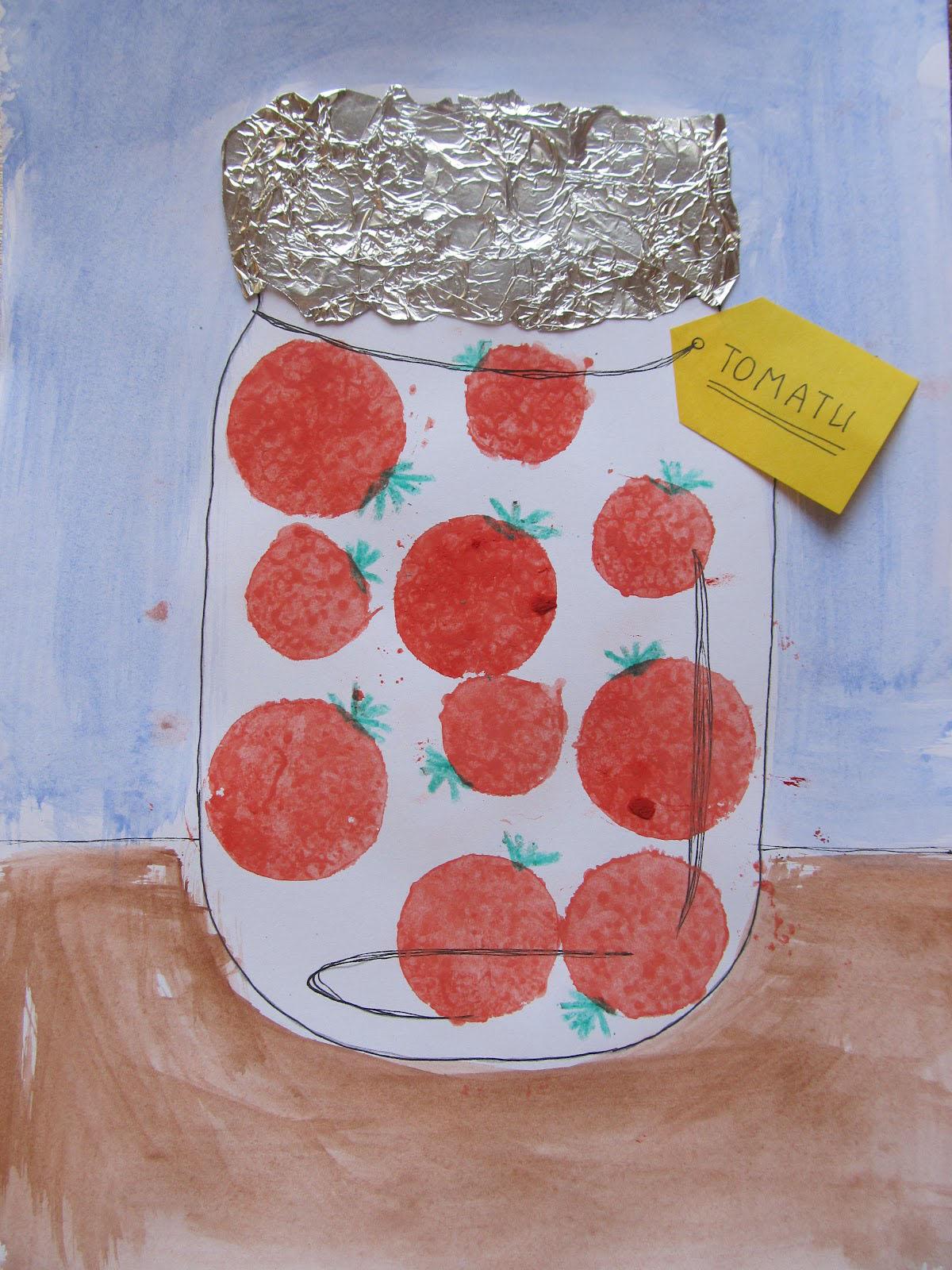 Поделки детей из помидоров