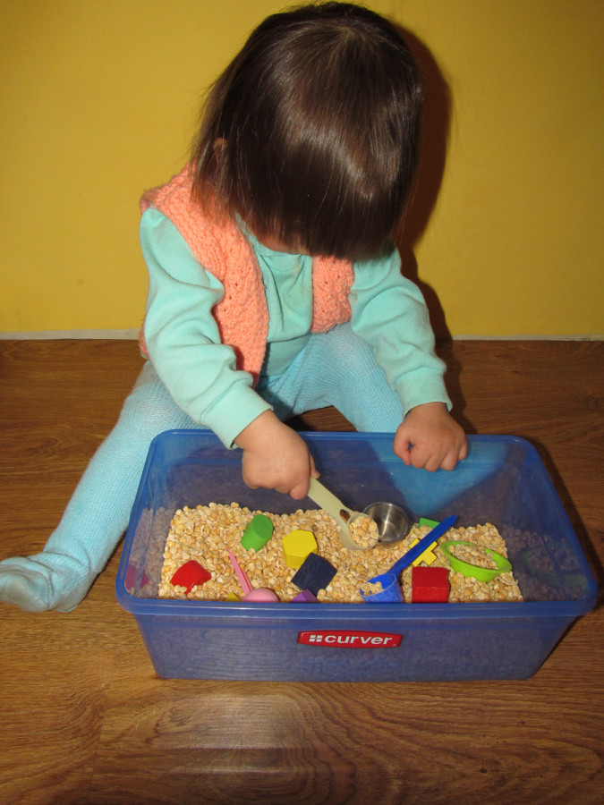 Тематические сенсорные коробки для детей (Ферма, Африка) 34