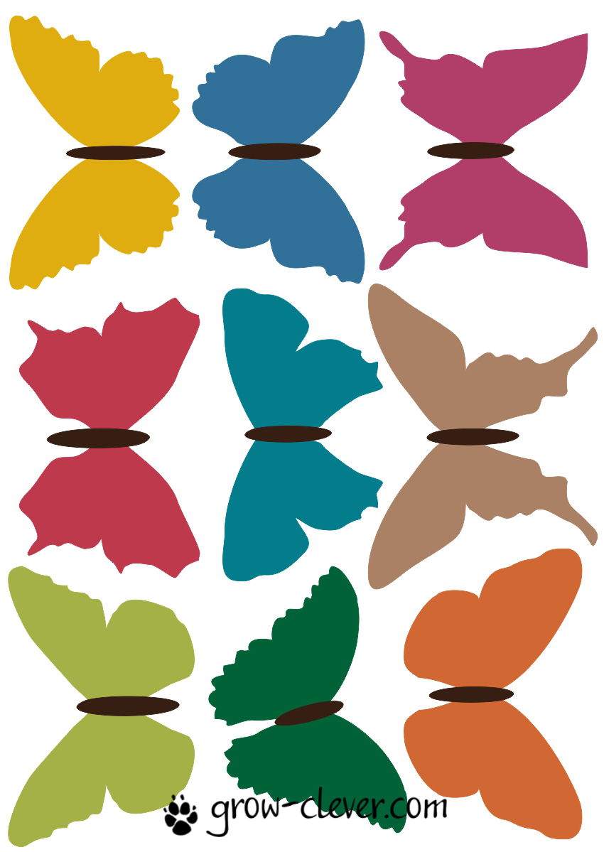 Картинки из бумаги бабочки