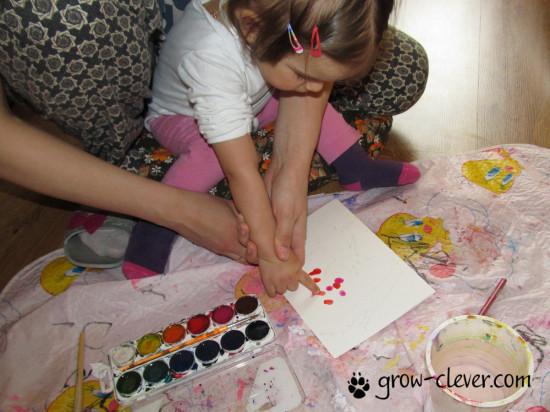 рисование с малышом, рисование пальчиками