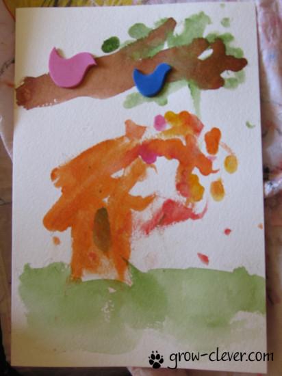 рисование с малышами, рисование пальчиками