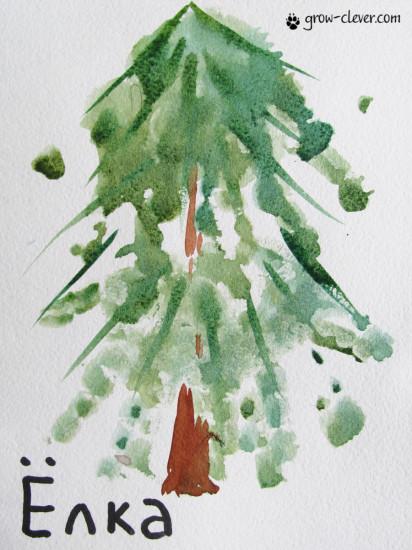 детская поделка, елка ладошками, ёлка ладошками
