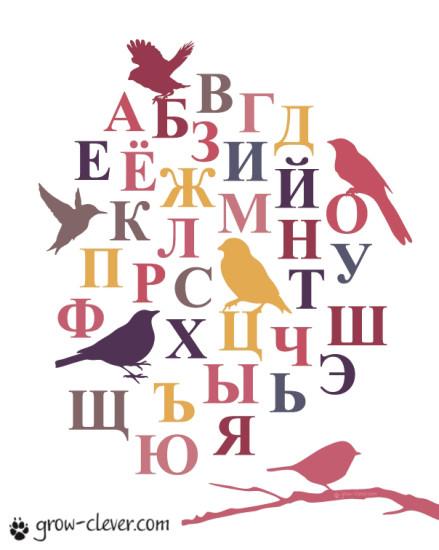 плакат с русским алфавитом для детейплакат с русским алфавитом для детей