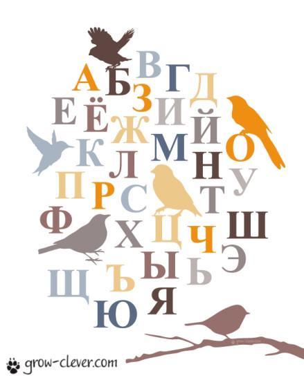 плакат с русским алфавитом для детей
