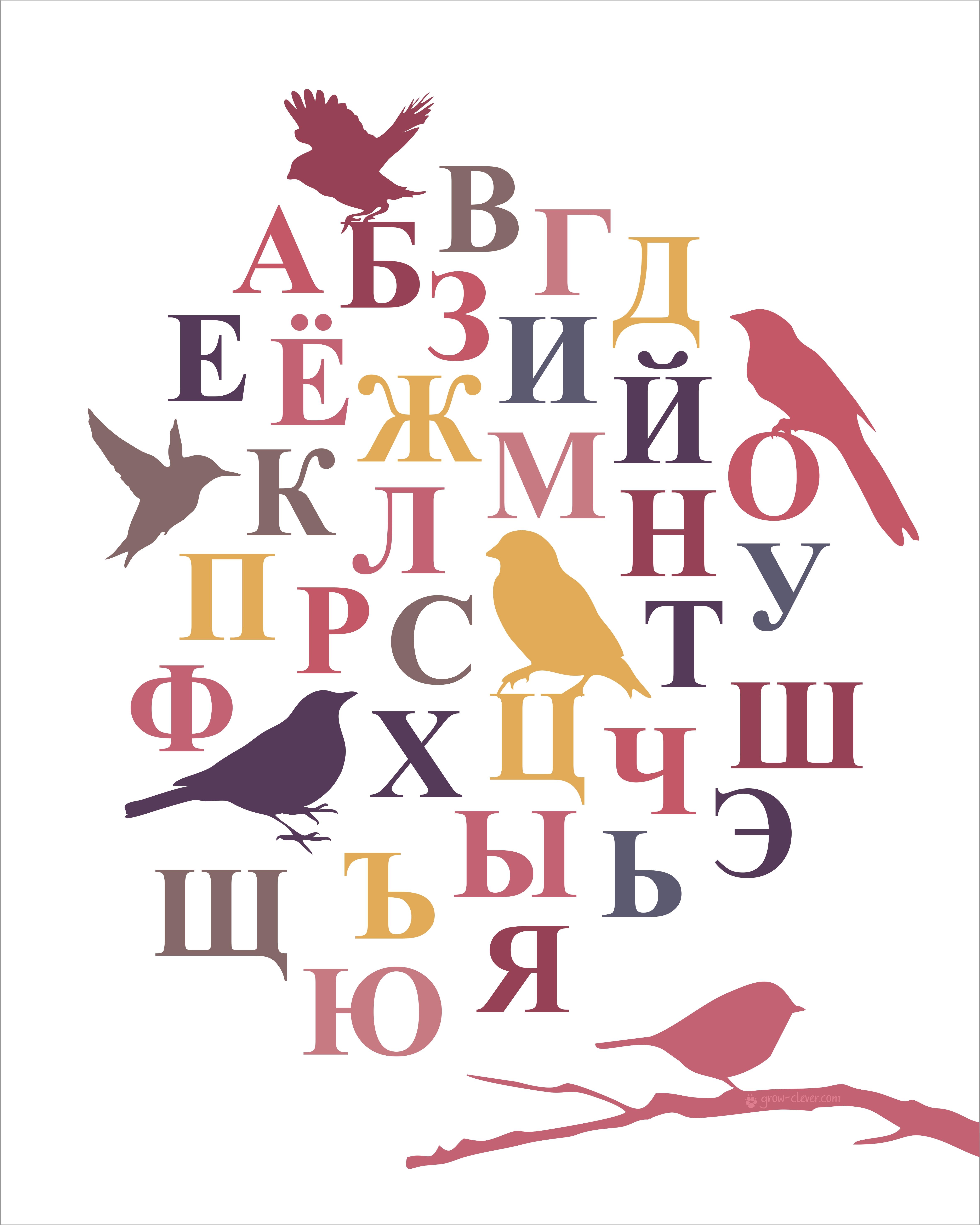 Алфавит для детей, плакат для детской комнаты   Расти умным!