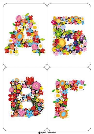 карточки для детей с буквами русского алфавита