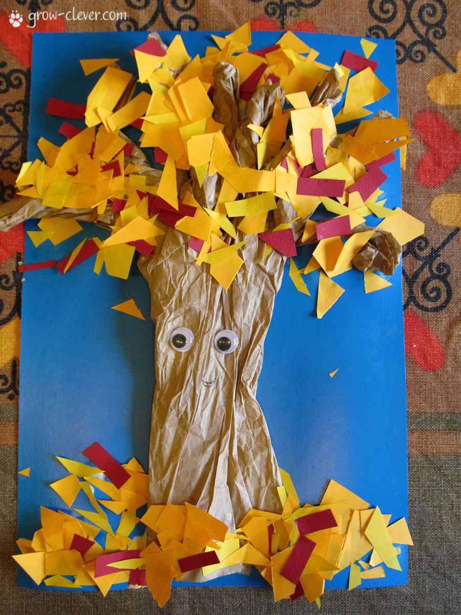 Как сделать бумажное дерево для детей 35