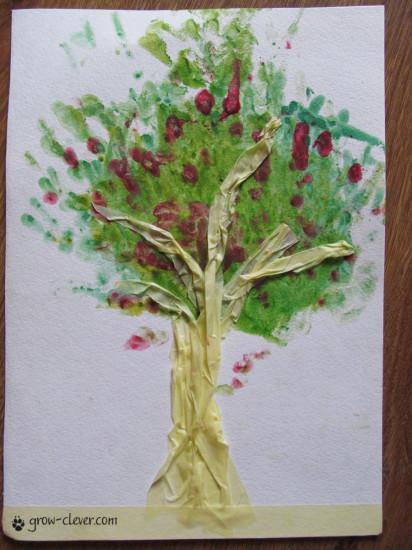 способы рисования деревьев
