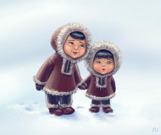 слова на букву Э для детей, эскимос