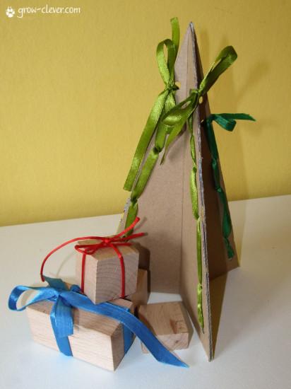 новогодняя детская поделка ёлка