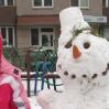 Первый в жизни снеговик!