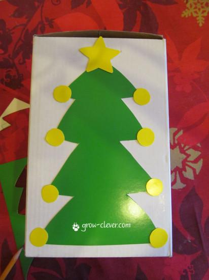 детская новогодняя игрушка своими руками ёлка из картонной коробки