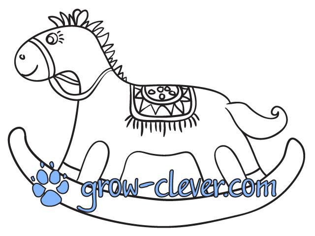Скачать бесплатно раскраску (разукрашку) лошадь