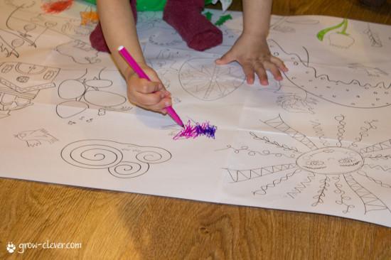 раскраска пасха, easter coloring page, раскраска плакат, ангелы, деревья, пасхальные яйца