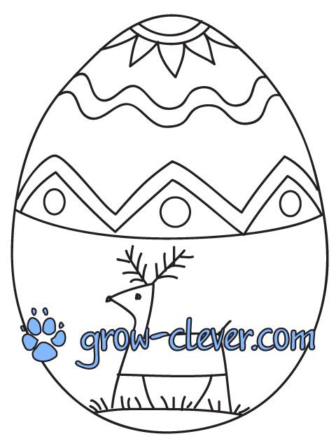 5 пасхальных раскрасок с яйцами писанками