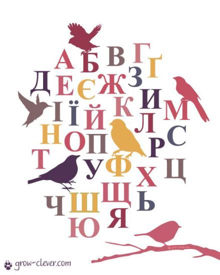 плакат с украинским алфавитом для детей