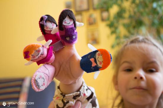 """пальчиковый театр """"Семья"""" из фетра, finger family puppets, бесплатный мастер-класс, игрушки на пальчиках"""