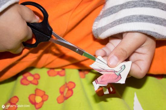 Ребёнок работает ножницами фотография, шаблон для работы ножницами