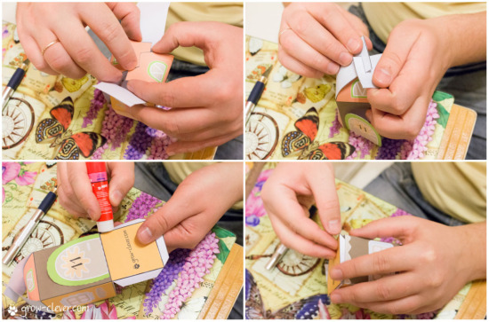 как сделать домик из бумаги своими руками, распечатать бесплатно шаблон домика