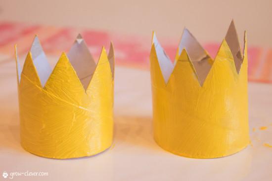 корона своими руками для детей из рулона от туалетной бумаги