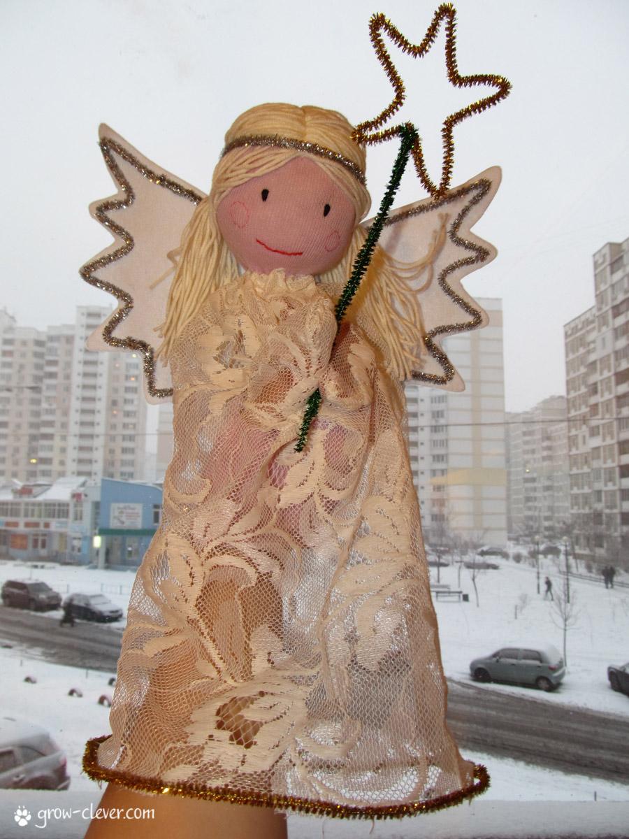 Ангел своими руками из колготок фото 734
