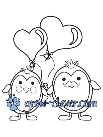 Раскраски о любви | Расти умным!