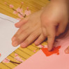 Шаблон для рисования алфавита ладошками