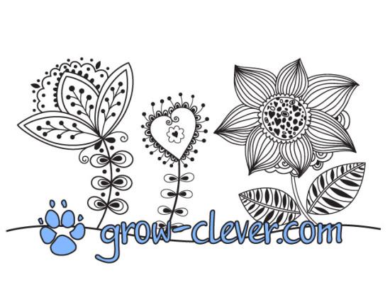 Раскраски цветы для детей, картинка весна, раскраски для взрослых