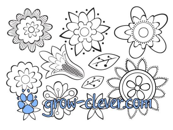 Раскраска цветы для детей, картинка весна, раскраски для взрослых