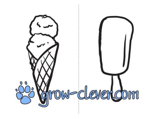 картинка раскраска рисунок мороженное