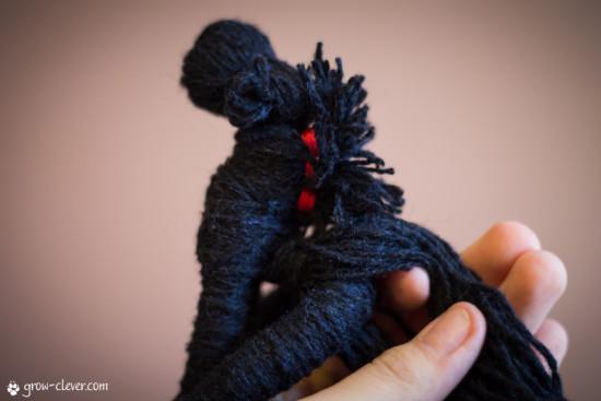 лошадка из ниток своими руками, мастер-класс, развивающая игрушка,