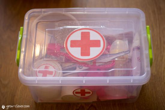 """набор для игры в доктора, тематический комплект """"Доктор"""", медицина"""