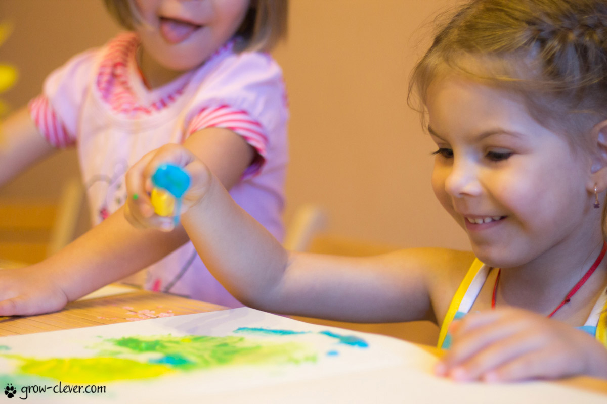 Пальчиковые краски своими руками Мир Успешных Мам