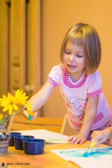 пальчиковые краски для малышей своими руками рецепт