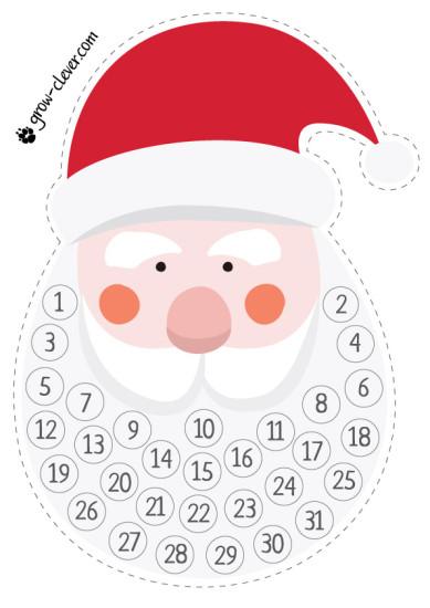 Адвент календарь, рождественский календарь, календарь ожидания, скачать бесплатно