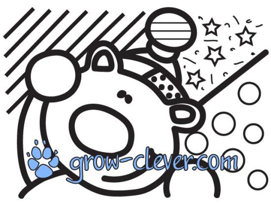 раскраски по картинам Ромеро Бритто, новогодние раскраски, мишка, медведь, bear