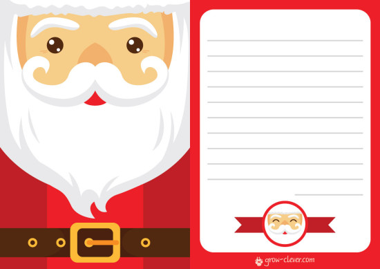 шаблон письма деду морозу, санта-клаусу, новогоднее письмо