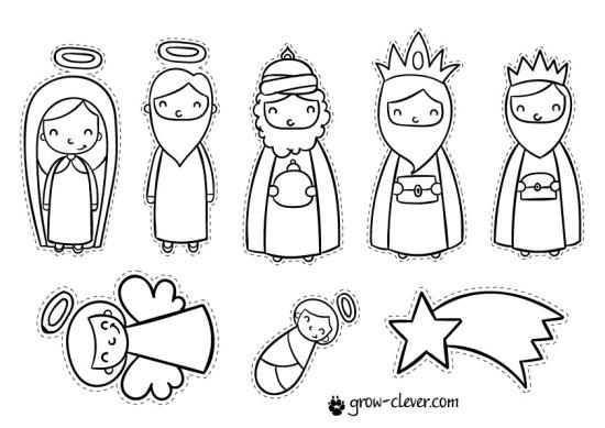 рождественский вертеп своими руками, из бумаги, фигурки, скачать и распечатать