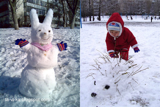 фигурки из снега идеи