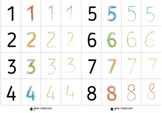 прописи цифры, учимся писать цифры