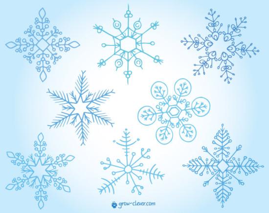 красивые снежинки иллюстрация картинка для детей