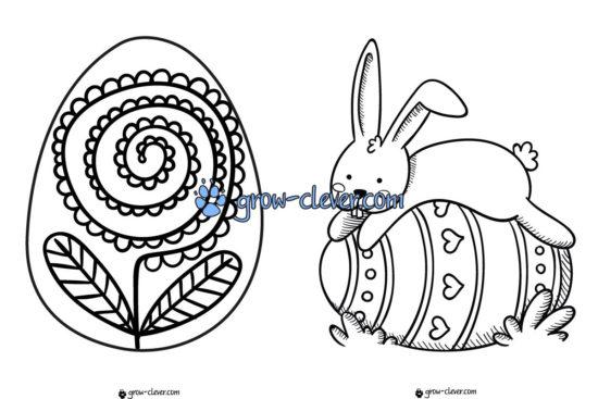 пасхальные раскраски, раскраска пасхальное яйцо, игры для детей на Пасху