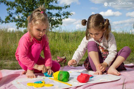 шаблоны для лепки, игры с детьми летом, творчество с детьми летом